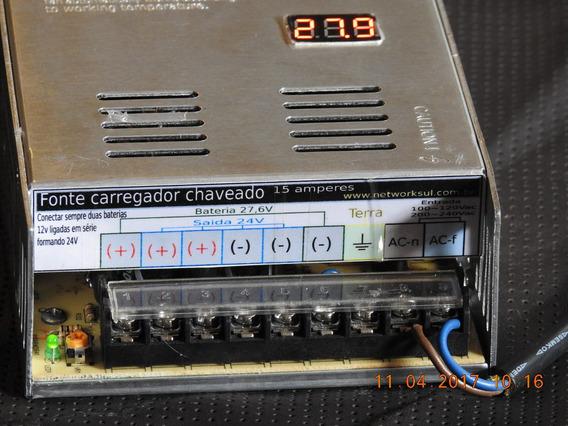 Lote 3 Fonte 24v 15a, Tip Nobreak, Com Monitor, Out24v