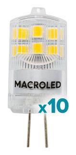 Lampara Led Bipin G4 2w 12v Macroled Fría/cálida Pack X10