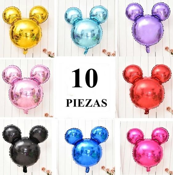 Globos Mickey Mouse Fiesta Cumpleaños Decoración (10 Pzas)