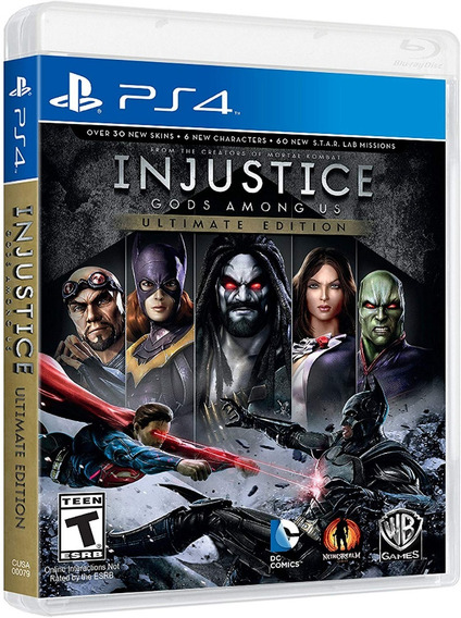 Injustice Gods Among Us Ultimate Edition Ps4 Mídia Física