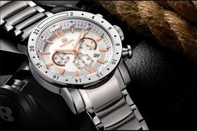 Relógio Megir Mg3008g Luxo, Masculino, Original