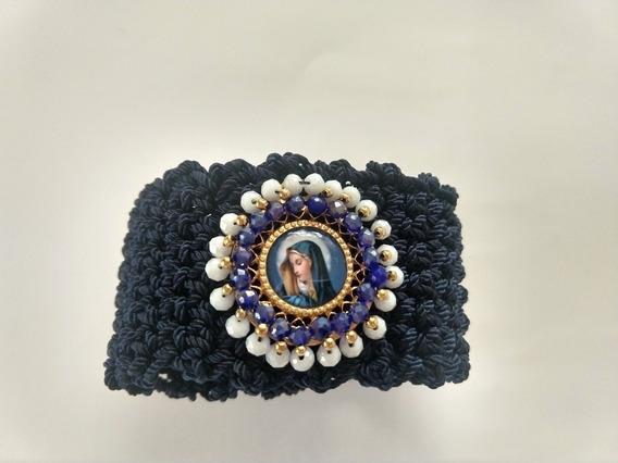 Pulsera Brazalete Medalla De Virgen San Benito San Judas