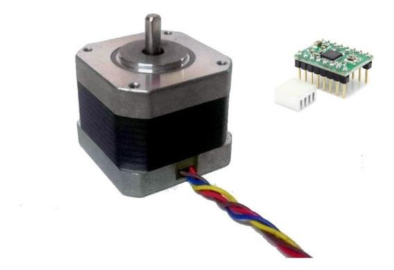 Motor A Pasos Nema 17 Cnc 1.2a + Driver A49 Para Arduino Cnc