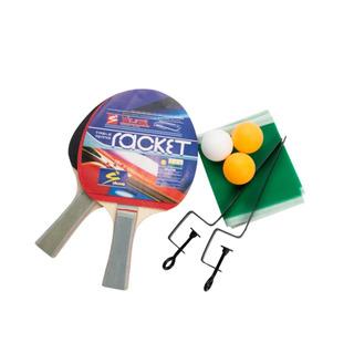 Kit Ping Pong 2 Raquetes 3 Bolinhas 1 Rede Com Suporte