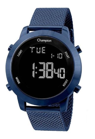 Relógio Champion Feminino Digital Ch40062a Azul Negativo