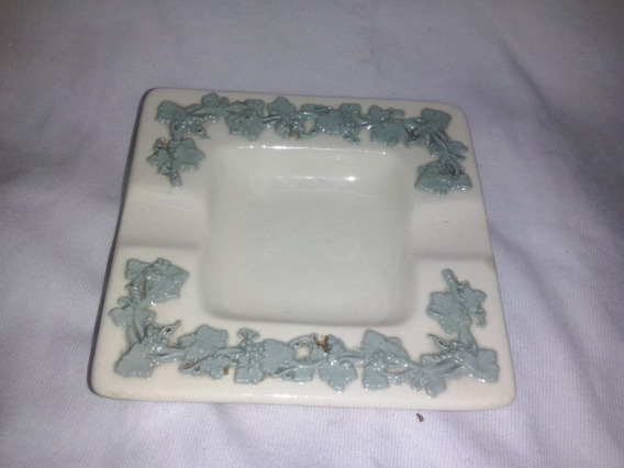Cenicero De Porcelana Ingles Wedgwood Embossed Queens Ware