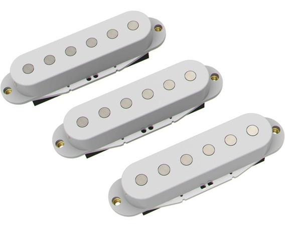 3 Micrófonos Ds Pickups Strato Set Sc1 Cerámicos Ds10 Blanco