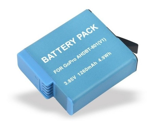 Bateria Ahdbt-801 Para Gopro 1260 Mah Hero 8/7/6/5 Black