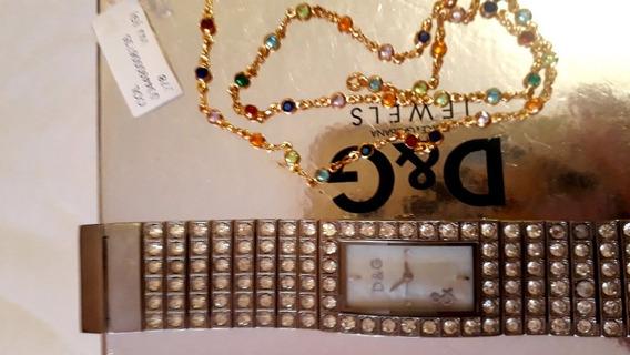 Relógio Original Dolce Gabbana + 1 Gargantilha