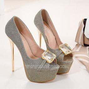b9f4a97c66 Sapatos Femininos Baratos Importados - Sapatos Dourado no Mercado ...