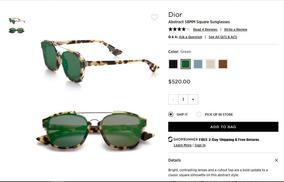 02f99ac393 Anteojos De Sol Christian Dior Abstract Verde Havanah