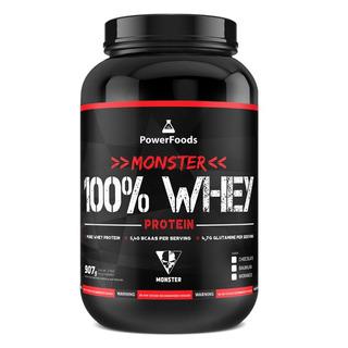Monster 100% Whey Protein Powerfoods Baunilha 907g