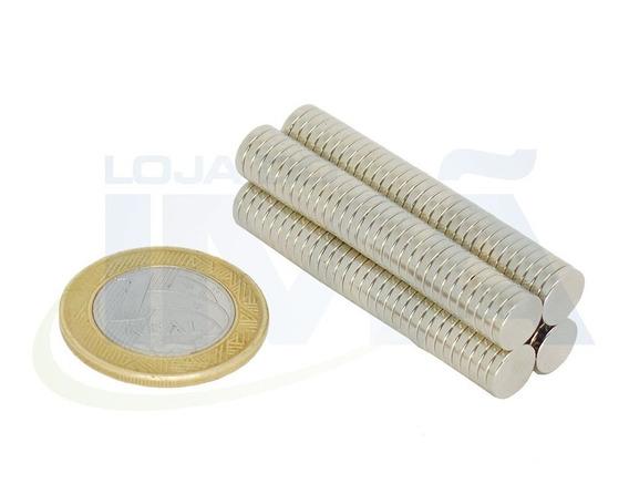 Imã De Neodímio D 8x1,5 Mm - 50 Peças - Super Imã