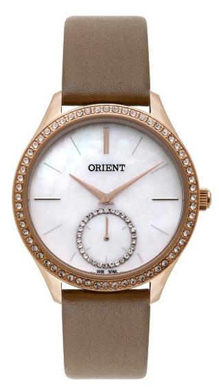 Relógio Orient Feminino Couro Com Pedras 34750