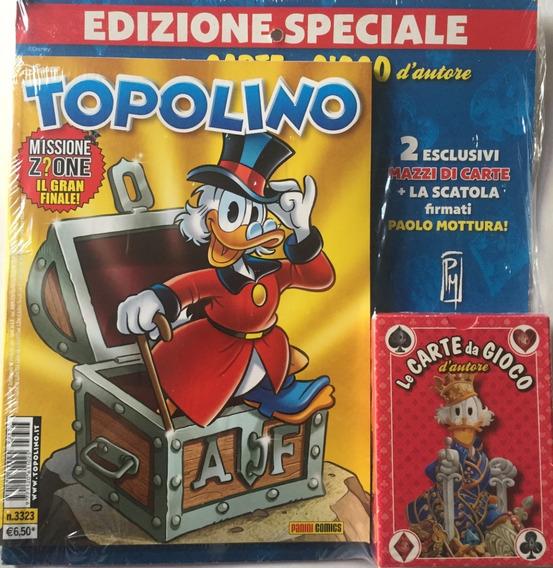 Topolino 3323 + Baralho Vermelho - Panini Bonellihq I19