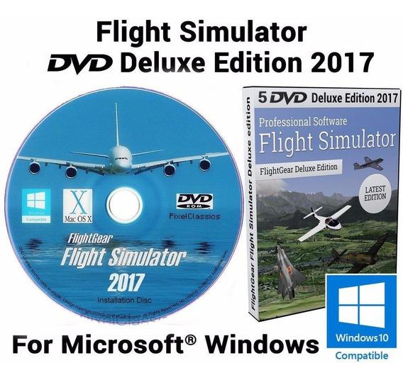 Flight Simulator 2017 - Deluxe Edition Pc Dvd Frete 8 Reais