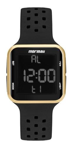 Relogio Mormaii Masculino Digital Quadrado Mo6600/8d Dourado