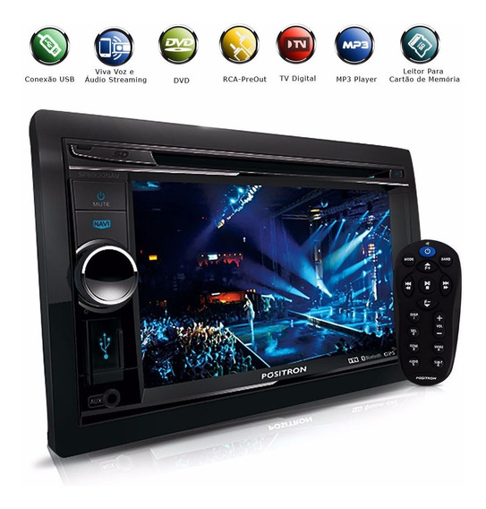Dvd Player 2 Din Tv Digital Bluetooth Usb Gps 6.2 Positron