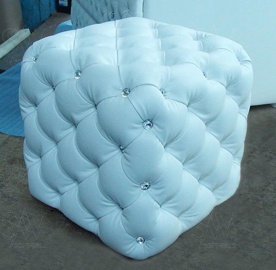 Puff Puf Confort Quadrado 45cm Capitonê
