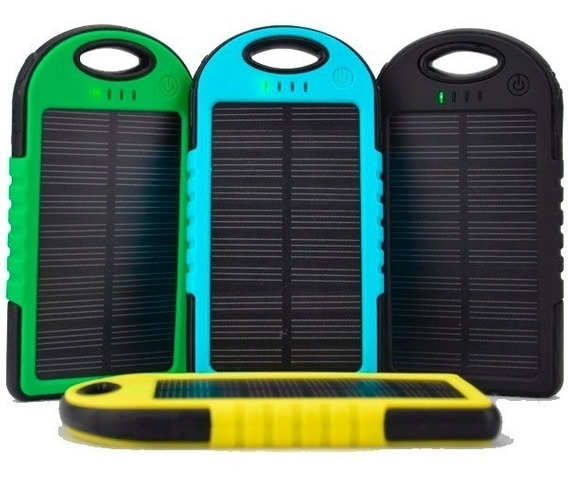 3 Piezas Cargador Celular Powerbank Celda Solar+lámpara Led