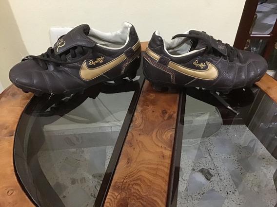 Tacos Nike Ronaldinho Futbol R10 Originales De Piel Tiempo