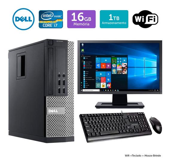 Cpu Usado Dell Optiplex 9020sff I7 16gb 1tb Mon17w Brinde