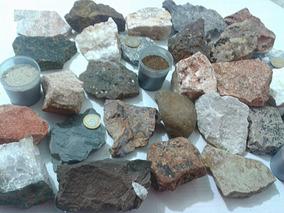 Coleção/ Kit De Rochas E Minerais Especiais 30 Unidades Geo