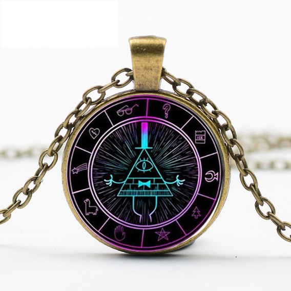 Gravity Falls Collar Dije Bill Cipher Nuevo