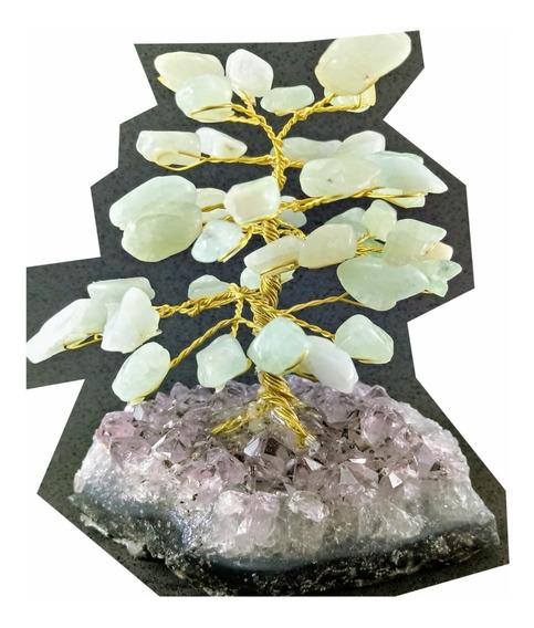 Árvore Pedra Natural Cristal Água Marinha Drusa Ametista