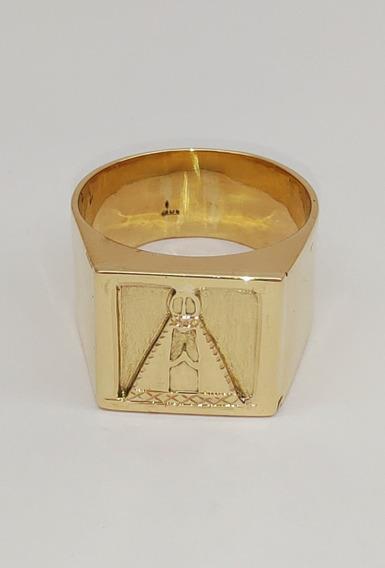 Anel Nossa Senhora Ouro 18kl/750 15 Gramas
