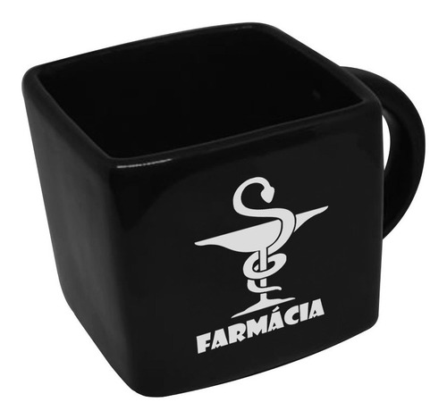 Caneca Cubo Quadrada Profissao Farmacia 200ml