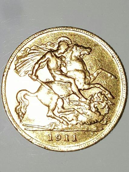 Moeda Rara De Ouro Georgivs V D.g Britt. De 1911