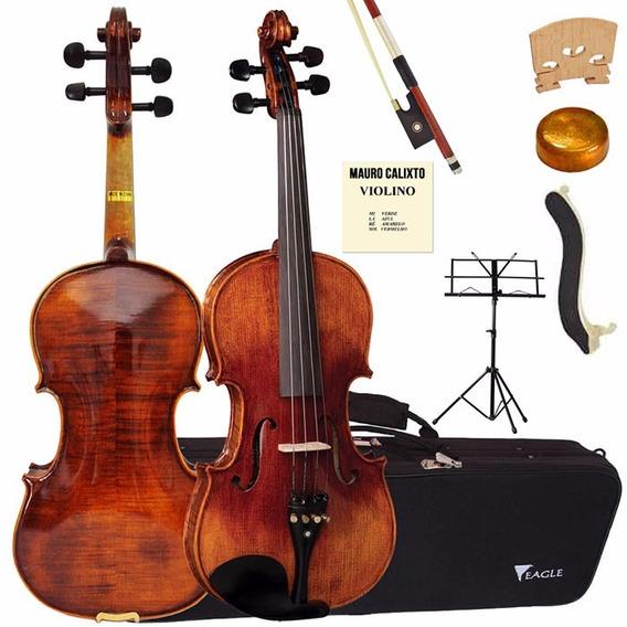Violino 4/4 Vk644 Eagle Partitura+corda+espaleira+oferta!