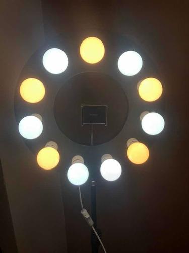 Ring Light 40cm + 11 Lâmpadas Led+ Tripé 2m
