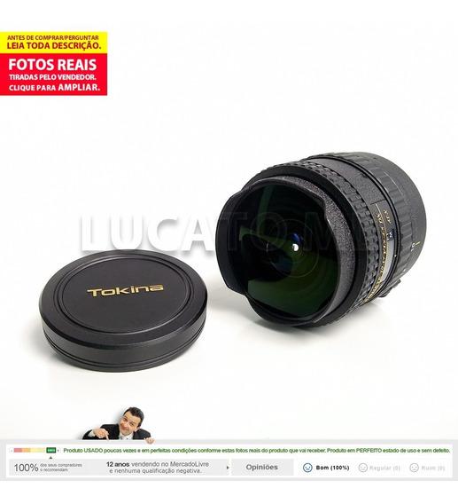 Lente P/ Canon Tokina 10-17mm F/3.5-4.5 Dx Atx Fisheye
