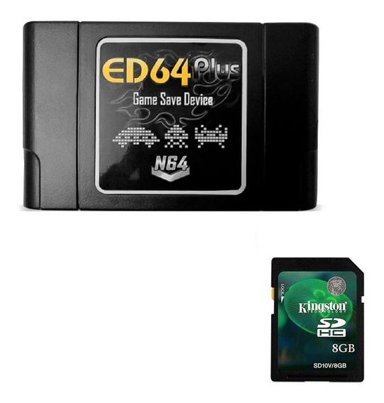 Ed64 Plus Nintendo 64 Cartucho N64 + Sd Card 8gb Sem Juros