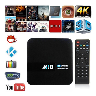 Tv Box M18 Android Convertidor Smart Tv Combo Control 4k Hd