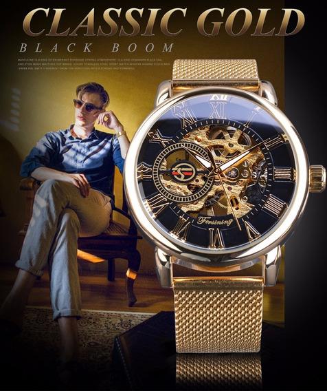 Relógio Masc Forsining Original, Turbillon, Clássico Elite