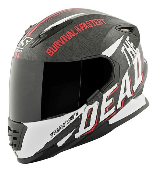 Casco Speed And Strength Ss1310 Quick Dead Ro/blanc Integral