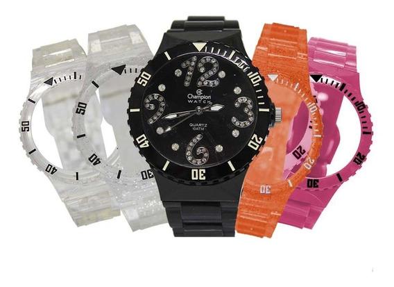 Relógio Feminino Champion Troca Pulseiras Cp30182d / 97704