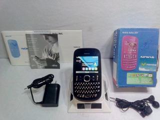 Nokia Asha 201.2 Negro/rosa Movistar ···envío Gratis···