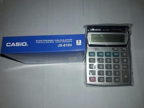 Calculadora Sumadora Casio Js-818v Super Oferta
