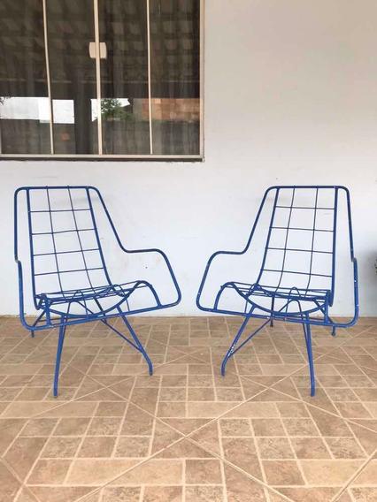 Par De Cadeiras De Ferro Anos 50 Estilo Carlo Hauner
