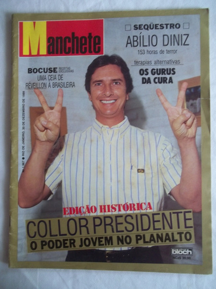 Revista Manchete Nº 1967 Collor Presidente Vasco Piquet 1989