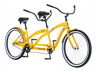 Kulana Lua Single Speed Tandem 26 Wheel, Yellow, 17
