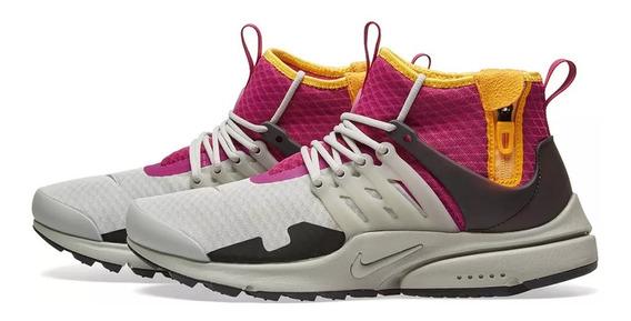 Tênis Nike Lab Air Presto Mid Utility Granite Pink,imediato.