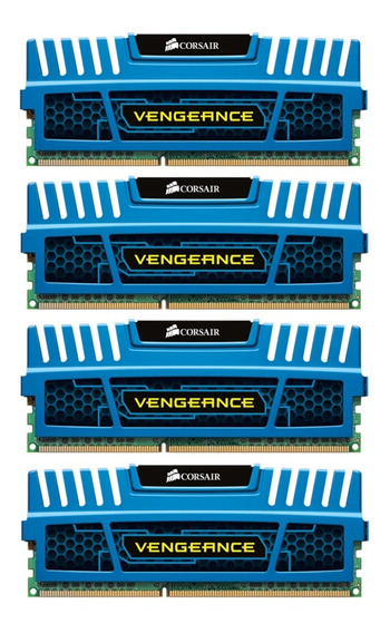 Corsair Vengeance Ddr3 16gb (4x4gb) 1600 Mhz Azul Original