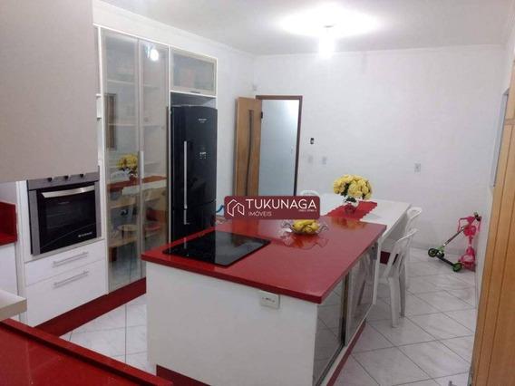 Sobrado Com 3 Dormitórios Para Alugar, 125 M² Por R$ 2.700/mês - Parque Continental - Guarulhos/sp - So0718