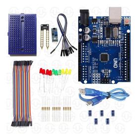 Kit Arduino Uno Iniciante Led Módulo E Sensor Umidade