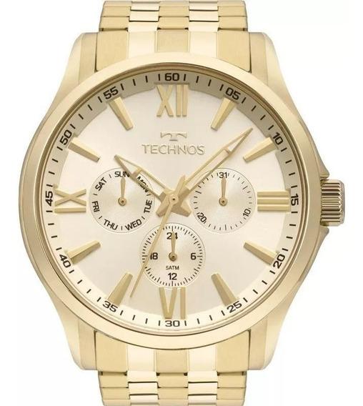 Relógio Technos Masculino 6p29aju/4x Multifunção Dourado